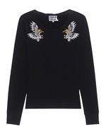 Pam&Gela Pam&Gela Embroidered Sweatshirt Black