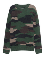 OFF-WHITE C/O VIRGIL ABLOH OFF-WHITE C/O VIRGIL ABLOH Camouflage Sweater All Over