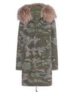 MR & MRS ITALY MR & MRS ITALY Canvas Parka Army