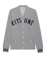 MAISON KITSUNÉ MAISON KITSUNÉ College Lapel Heather Grey