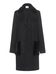 MANZONI24 Coat Cashmere Loro Black