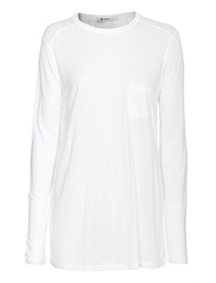 T BY ALEXANDER WANG Classic Pocket Long White