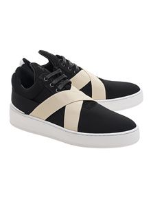 Filling Pieces Low Top Bandage Black White