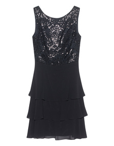 YOUNG COUTURE BY BARBARA SCHWARZER Sequin Lace Black