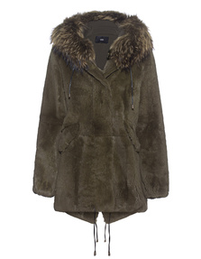 STEFFEN SCHRAUT Notting Hill Fur Coat Park Green