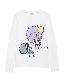 KENZO Cartoon Cactus White