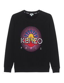 KENZO Pink Sun Logo Black