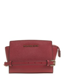 MICHAEL Michael KORS Selma Mini Saffiano Leather Crossbody Red
