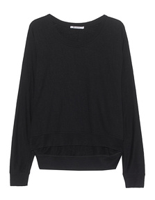 T BY ALEXANDER WANG Soft French Terry Black