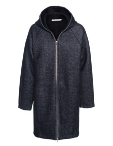 T BY ALEXANDER WANG French Terry Scuba Zip Anthra