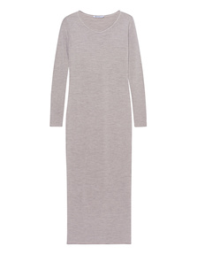 T BY ALEXANDER WANG Long Knit Dress Beige