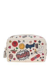 ANYA HINDMARCH Make Up Pouch All Over Chalk