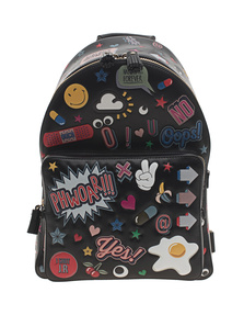 ANYA HINDMARCH Backpack Mini Wink Stickers Black