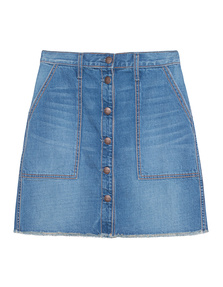 CURRENT/ELLIOTT The Naval Skirt Blue Collar