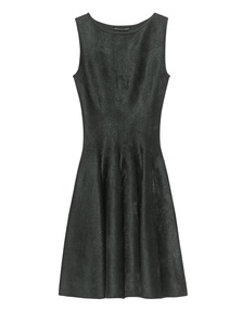 ANTONINO VALENTI Adelaide Skater Dress Grey Green
