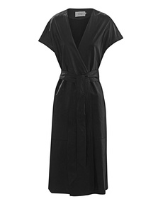 STAND Kate Wrap Dress Black