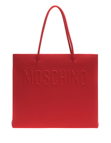 MOSCHINO Embossed Big Clean Red