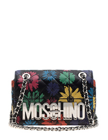 MOSCHINO Flowers Everywhere Silver Black