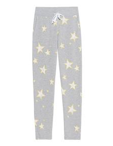 JUVIA Fleece Stars Trousers Grey Melange