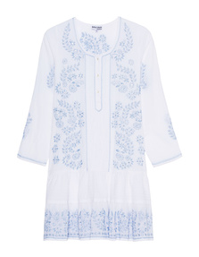 JULIET DUNN Floral Flare White Blue