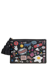 ANYA HINDMARCH Georgiana All Over Wink Black