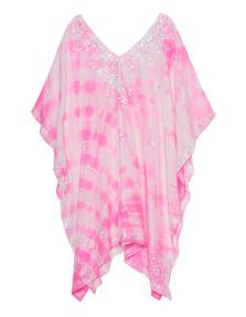 JULIET DUNN Batik Sequined Pink White