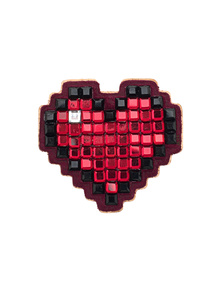 ANYA HINDMARCH Pixel Heart Red