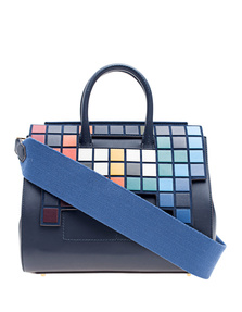 ANYA HINDMARCH Ephson Small Space Invaders Flap Ink