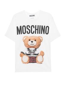 MOSCHINO Oversize Punk Bear White