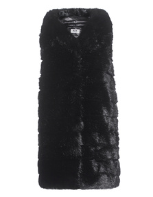 Betta Corradi Fake Fur Gilet Black