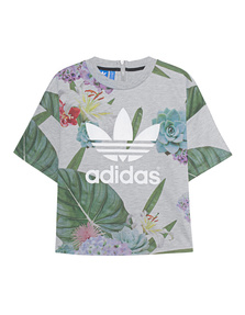 ADIDAS ORIGINALS Train Boxy Tee Grey