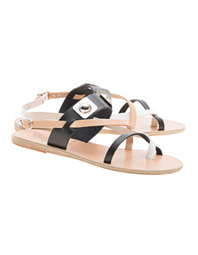 Ancient Greek Sandals Alethea Natural Black