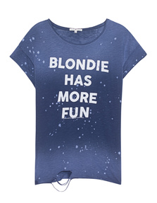 JUNK FOOD CLOTHING Blondie Has More Fun Blue