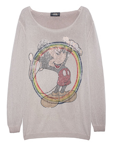 CAMOUFLAGE COUTURE STORK Mickey Rainbow Beige