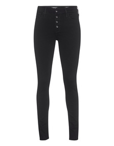 AG Jeans The Farrah Skinny Button-Up Black