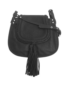 Clover Crossbody Washed Grain Black