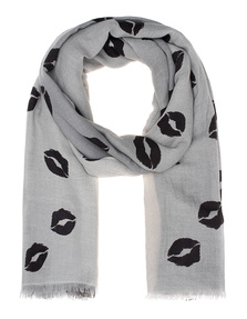 ALBEROTANZA Fine Ring Pashmina Lips Grey