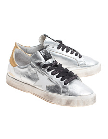 GOLDEN GOOSE May Star Silver Gold White
