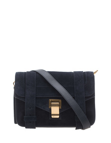 PROENZA SCHOULER PS1 Mini Crossbody Suede Navy