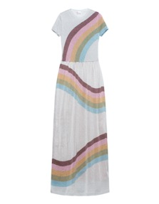 RED VALENTINO Knit Stripes Metallic Multicolour