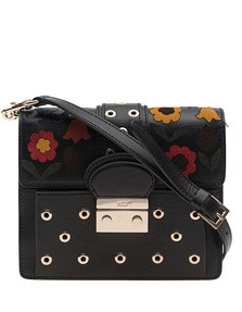 RED VALENTINO Shoulder Flower Black