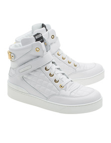 MOSCHINO High Top Quilt White