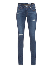 AG Jeans Leggins Destroy Metal Blue