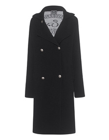 GEMMA.H Knit Long Coat Black