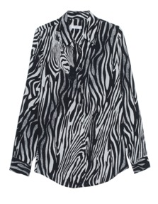 EQUIPMENT Brett Clean Marsmallow Zebra True Black