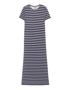 SEA  Striped Jersey Long Blue White
