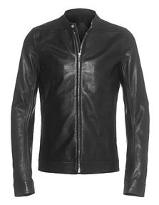 RICK OWENS Windbreaker Leather Black