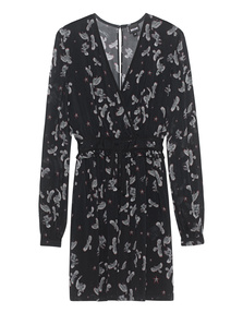 JUST CAVALLI Eagle Print Dress Black