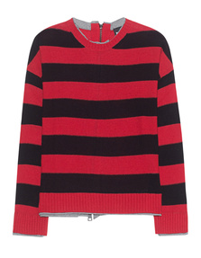 JUST CAVALLI Loose Knit Stripes Red