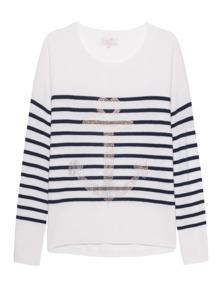 Rosa von Schmaus Stripes Anchor Blue & White